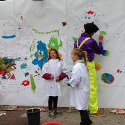 Inhuren van Kunst 4 Kids met Voorjaarstekening