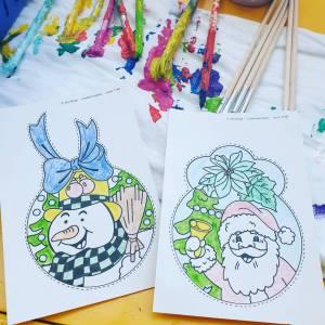 Boeken van Kunst 4 Kids met Kerst tekening