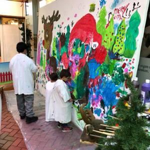 Inzetten van Kunst 4 Kids met Kerst tekening