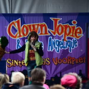 sinterklaasvoorstelling Clown Jopie en Tante Angelique inhuren