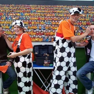 Foto van Schminkstand Oranje | Attractiepret.nl