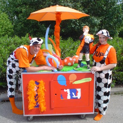 Promotiefoto Oranje Surprise Car