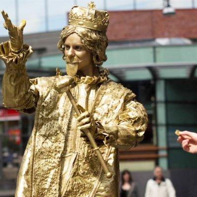 Download promotiefoto van Levend Standbeeld - Koning Midas