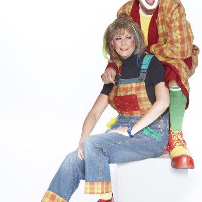 Promotiefoto Persfoto - Clown Jopie & Tante Angelique