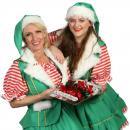 2 Kerstvrouwtjes delen kerstkransjes uit inhuren of boeken? | Artiestenbureau JB Productions
