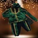 Luxe Zwarte Pieten Kostuum Groen-Zwart huren   Artiestenbureau JB Productions