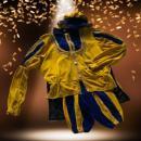 Luxe Zwarte Pieten Kostuum Geel-Rood Huren | Artiestenbureau JB Productions