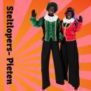 Steltlopende Zwarte Pieten inhuren of boeken | Artiestenbureau JB Productions