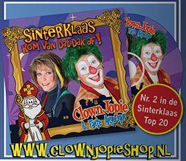 Bestel hier de Sinterklaas CD van Clown Jopie en Tante Angelique