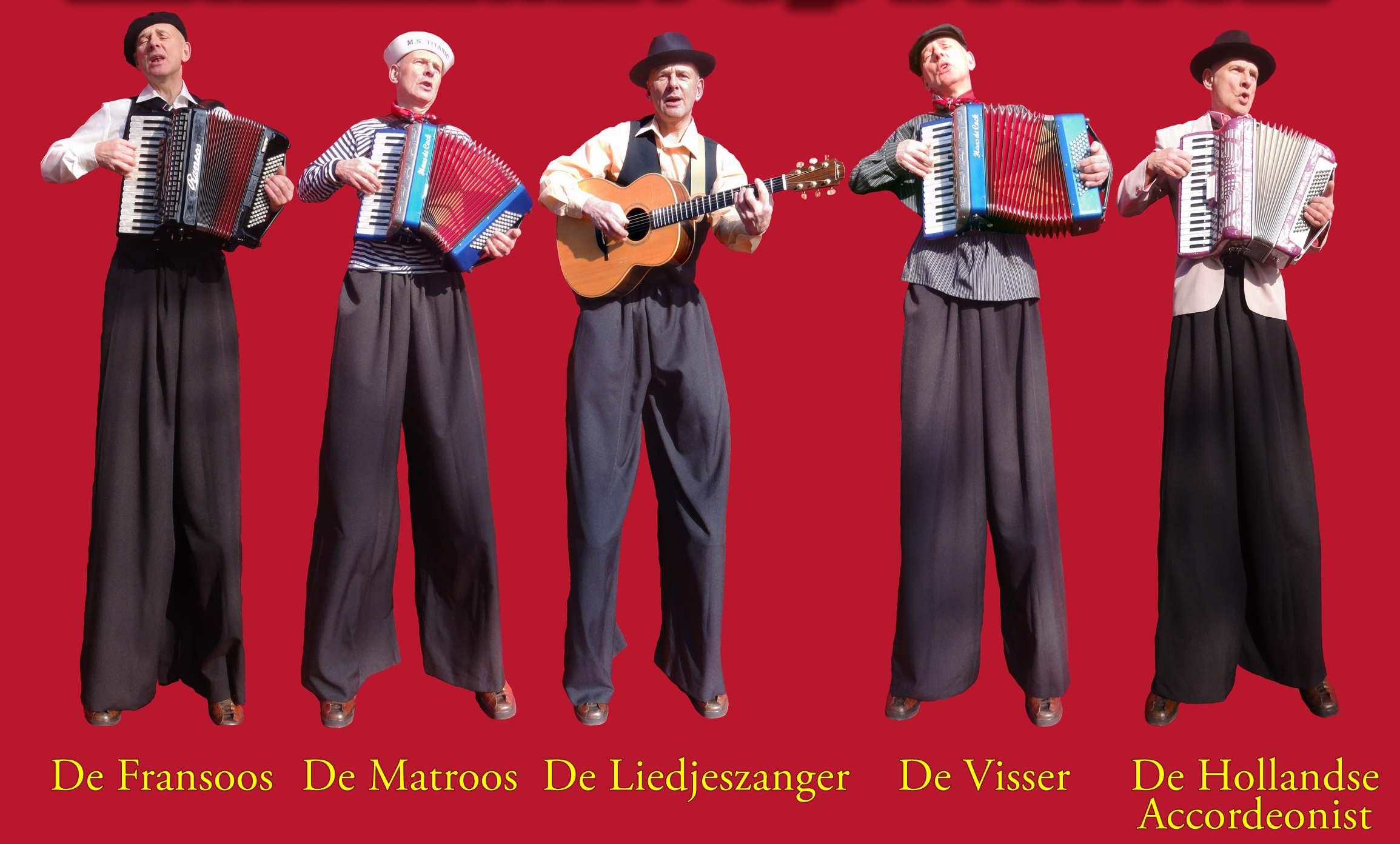 Diverse outfits Orkest op Stelten